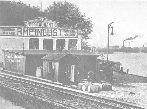 Schienen am Rhein und der Theodor Müncker Spedition