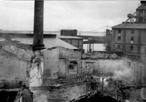 Vorkriegs Abbildung der Lagerhallen von SteltenKG - ehemals Müncker Spedition